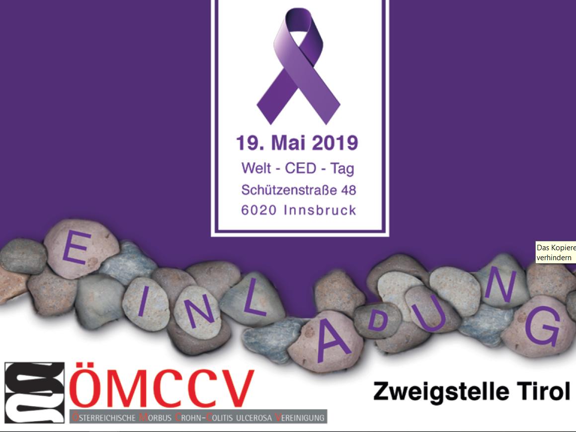 Einladung ÖMCCV- Welt CED Tag