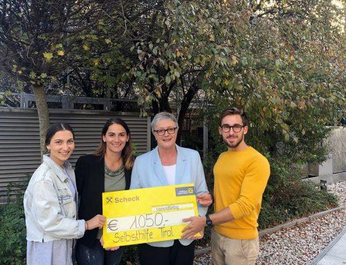 Student*innen sammelten Spenden für die Selbsthilfe Tirol