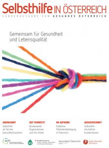 Titelseite Sonderausgabe Gesundes Österreich zum Thema Selbsthilfe in Österreich